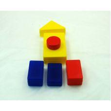 Блоки Дьенеша (набор объемных геометрических пластиковых фигур)