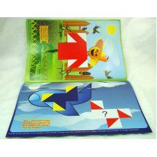 Разноцветный мир (альбом к деревянным кубикам Сложи узор, от 3 лет)