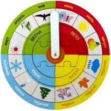 Часы. Времена года: год и месяцы (деревянные рамки и вкладыши)