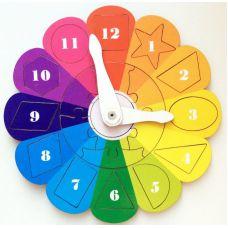 Часики Радуга (деревянные рамки и вкладыши)