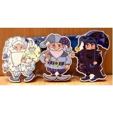 Гномы (3 персонажа-магнита сказки, маленькие)
