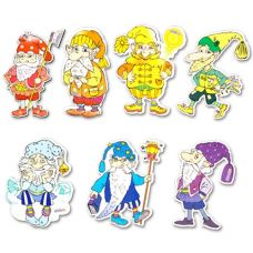 Гномы (7 персонажей-магнитов сказки, маленькие)