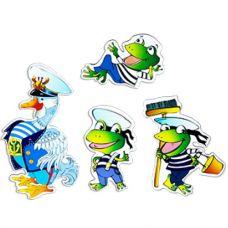 Гусь и Лягушки (4 персонажа-магнита сказки, маленький комплект)
