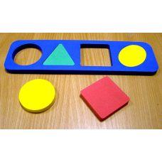 Геометрические фигуры простые (рамка вкладыши)