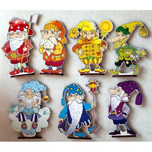 Гномы (7 персонажей сказки, большие)