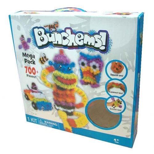 Конструктор-липучка Bunchems Mega Pack (700 элементов)