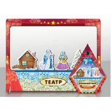 Морозко кукольный театр с ширмой (игрушка из дерева, размер 47*36*4,5 см)