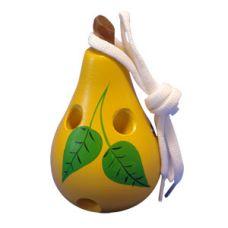 Груша-шнуровка, художественно окрашенная лакированная