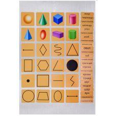 Геометрические фигуры и тела (набор магнитных карточек)