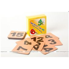 Числа от 1 до 20 (фон оранжевый) Набор магнитных карточек